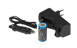 Charger for Rechargeable Lithium Battery - 3,7 V - 3000 mAh